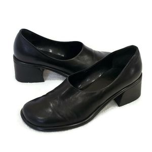 Franco Sarto Flex Black Leather Pumps, 8.5